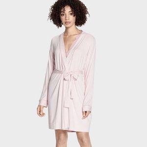 UGG Aldridge Mini Stripe Seashell Pink Short Robe